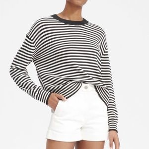 Everlane The Cotton Long-Sleeve Crew M
